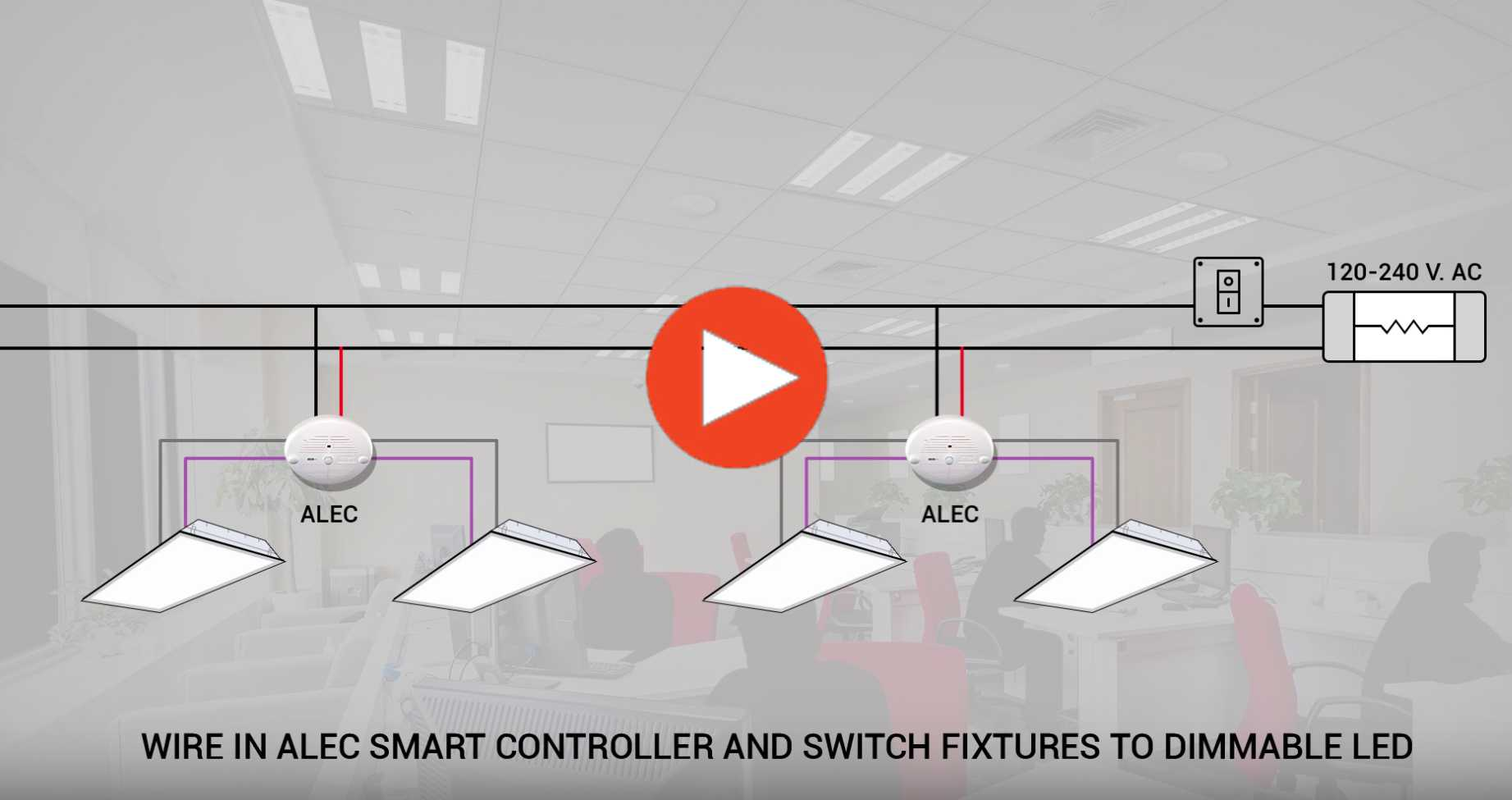 Led Office Lighting Fixture Wiring Diagram Worksheet And Ceiling Light All In One Energy Controller Rh Aleccontrol Com Lamp